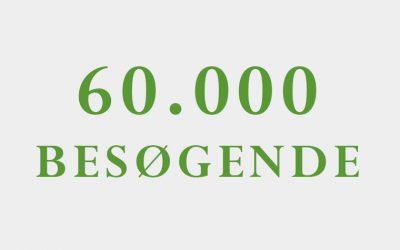 60.000 besøgende på 6 måneder