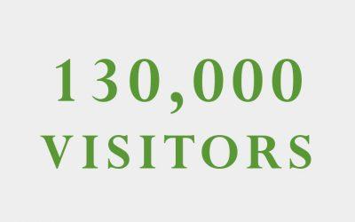130,000 visitors