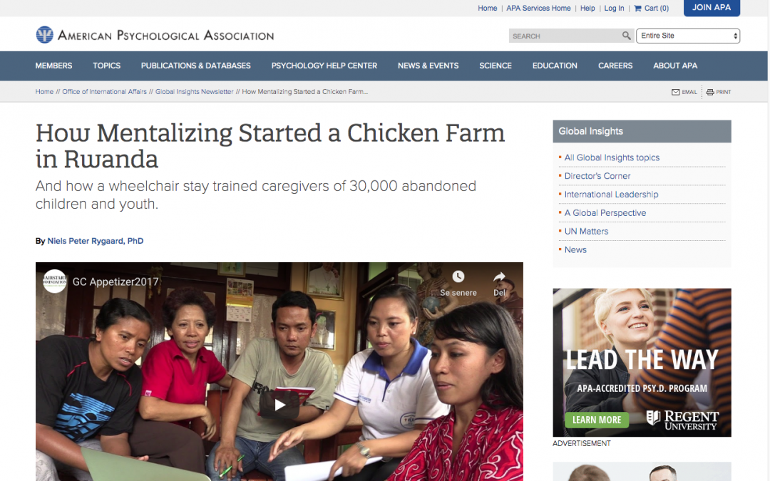 """How Mentalizing Started a Chicken Farm in Rwanda""."