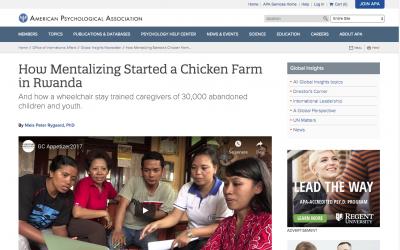 """How Mentalizing Started a Chicken Farm in Rwanda""."